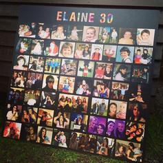 30th Birthday - Photo Board