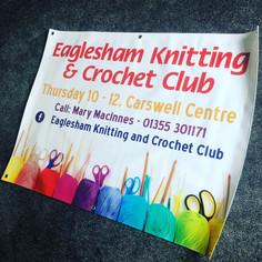 Eaglesham Knitting & Crochet Club - PVC Banner