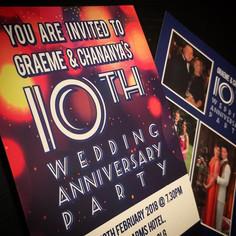 Wedding Anniversary - Invites