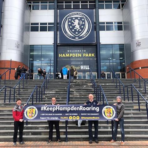 #KeepHampdenRoaring - PVC Banner