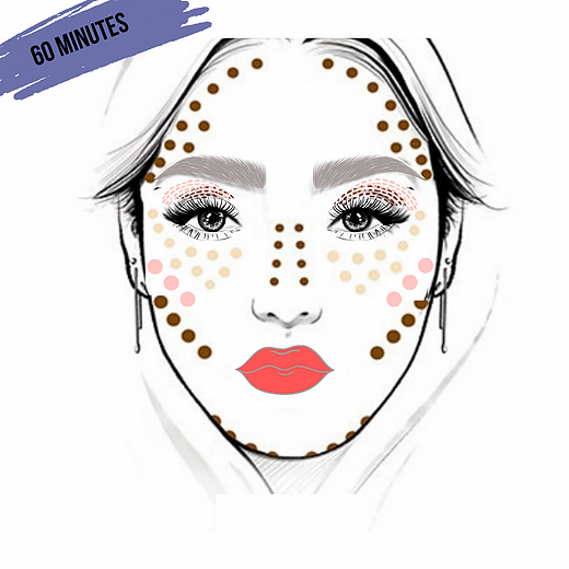 60 Minute Virtual Makeup Lesson