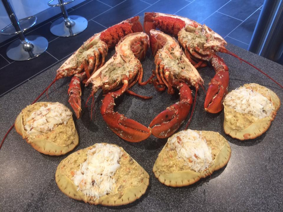 Dressed crab and lobster