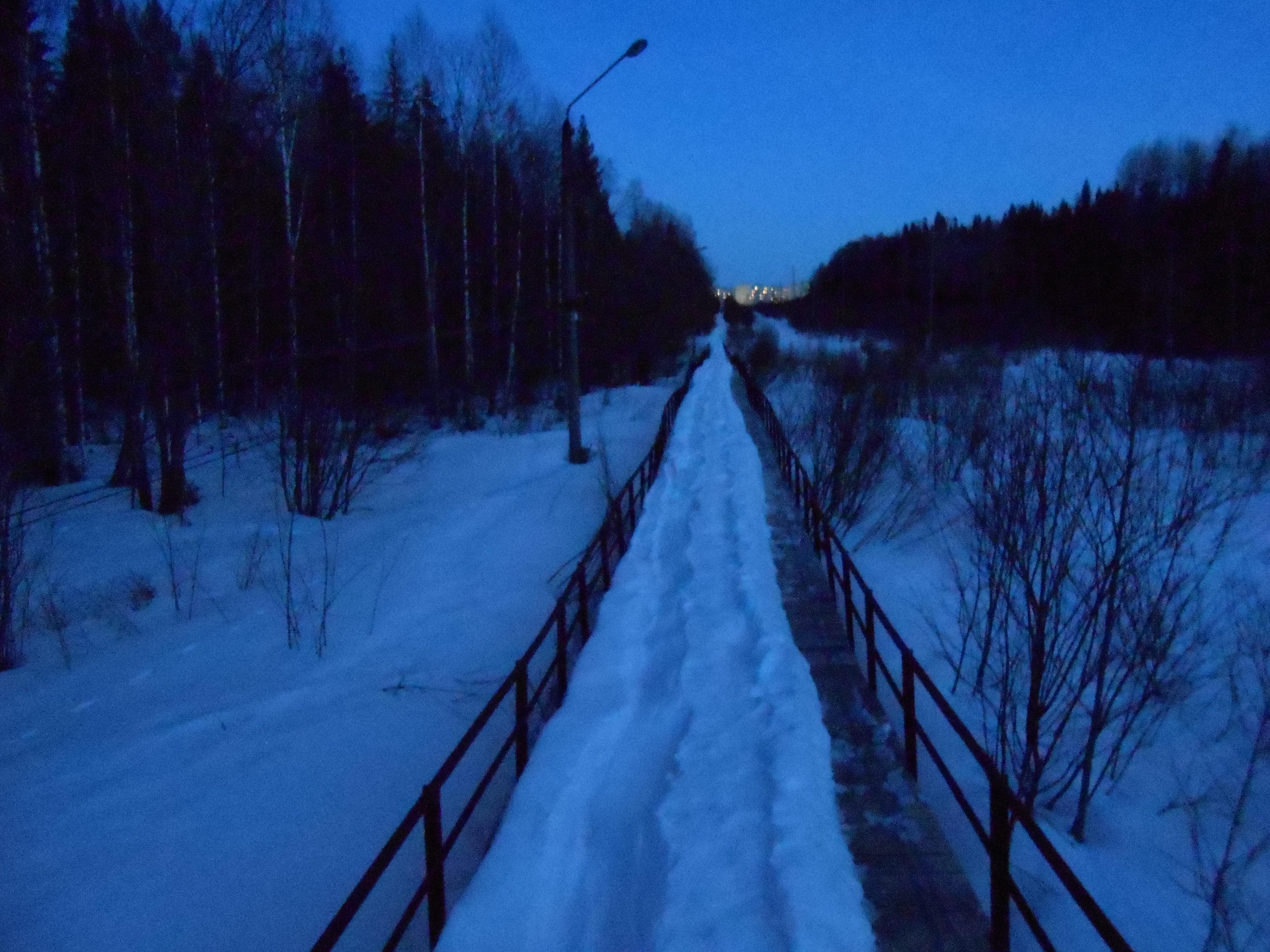 Второй мост. Впереди посёлок.JPG