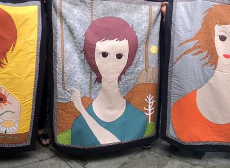 Releituras de obras de arte em tecido