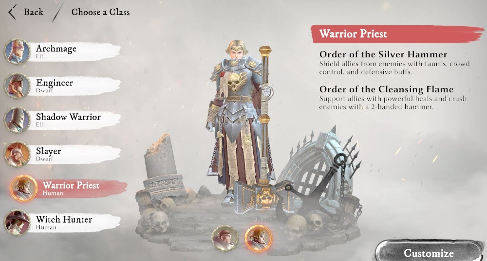Warhammer Odyssey Classes and Characters