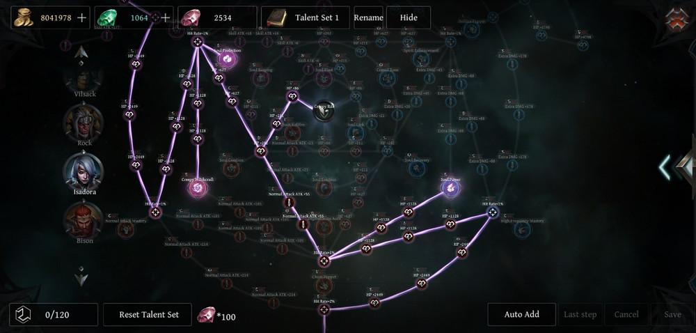 Raziel Vilsack Death Ranger Build Isadora Talent Tree