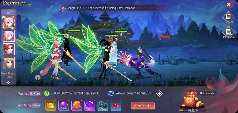 Mega Heroes Idle MMORPG Global Release for IOS and Android Gameplay
