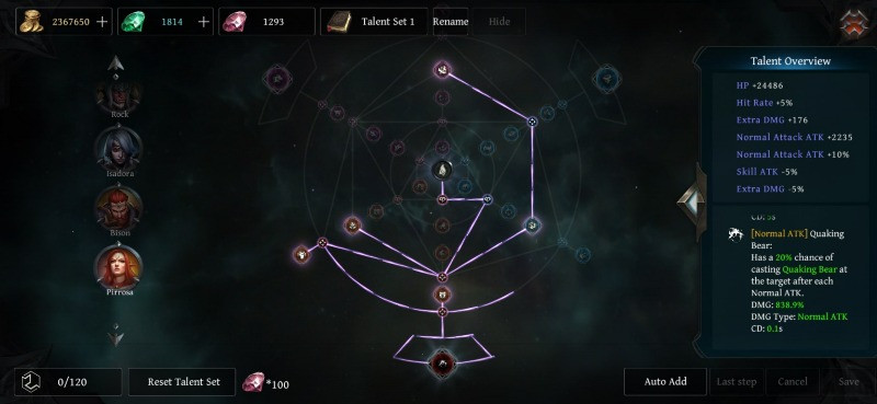 Raziel Dungeon Arena_ The Best Guardian Bison Build Guide Pirossa Talent Build