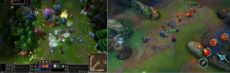Wild Rift vs League of Legends on PC Gameplay