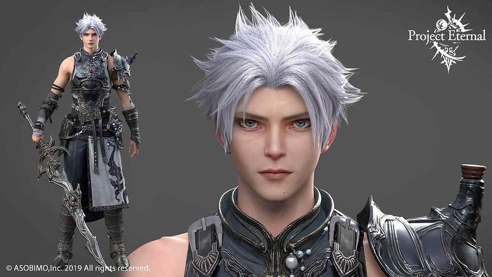 Eternal MMORPG character Designs by Final Fantasy illustrator