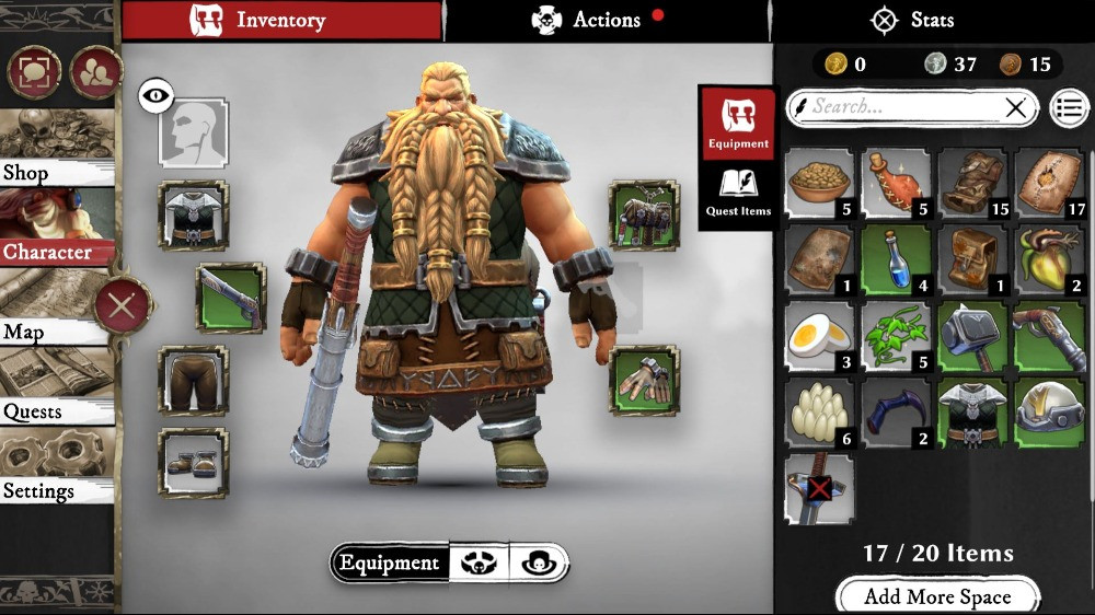 Warhammer odyssey gears and items