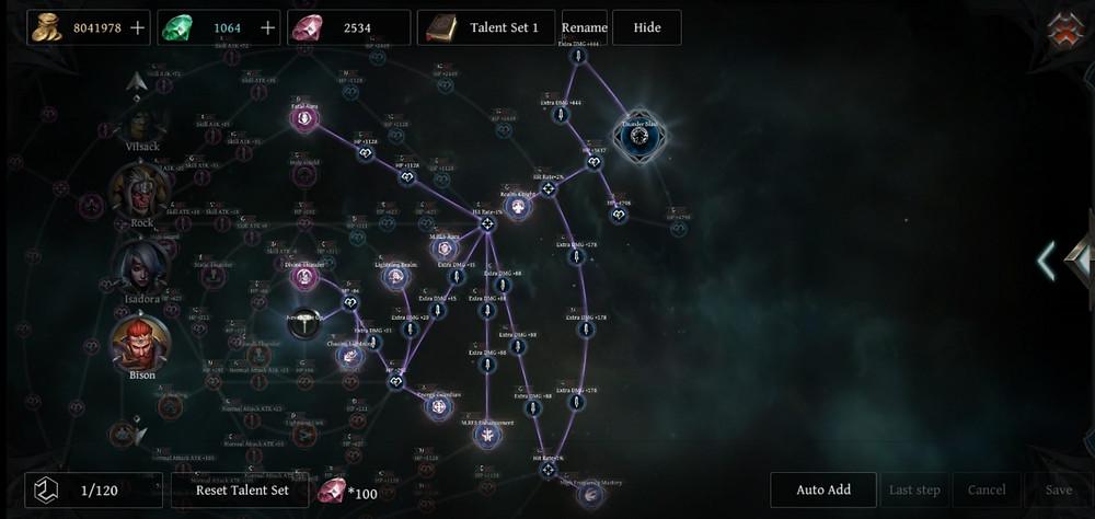 Raziel Vilsack Build: Bison Talent Tree