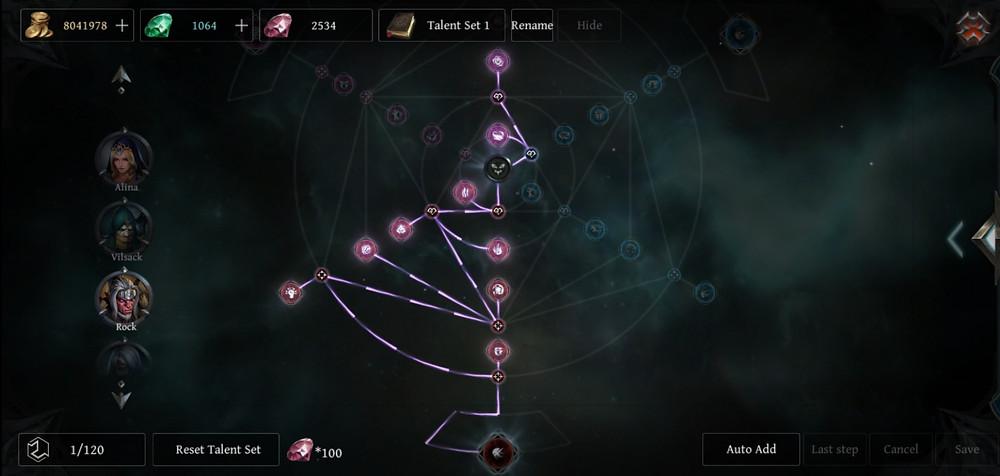 Raziel Rock Talent Tree