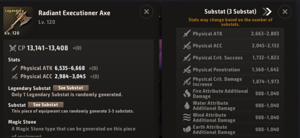 A3 Still Alive Berserker items and stats