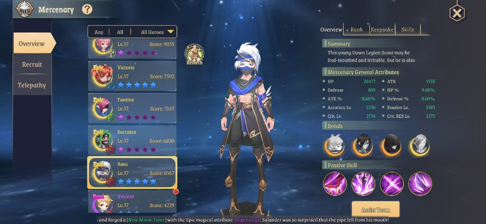 Stella Arcana - Eternal Star Global CBT Gameplay Mercenaries and Gacha