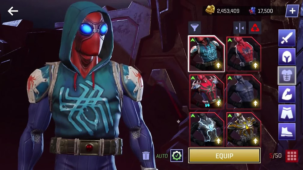Marvel Realm of Champions Customisation Heroes