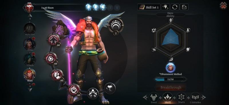 Raziel: Dungeon Arena Guardian Bison Build Skills