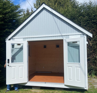 12W x 10D RANCHER STYLE SHED EXTERIOR & INTERIOR