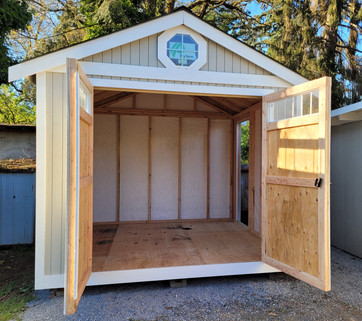 10W x 10D RANCHER STYLE SHED INTERIOR