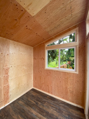 8W x 8D FORESTER STYLE SHED INTERIOR