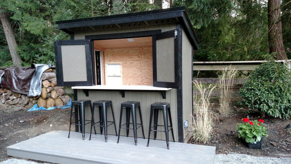R. Forester Style Outdoor Bar