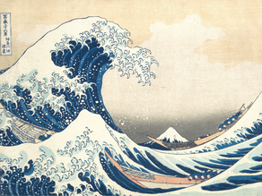 Hokusai and Prussian Blue