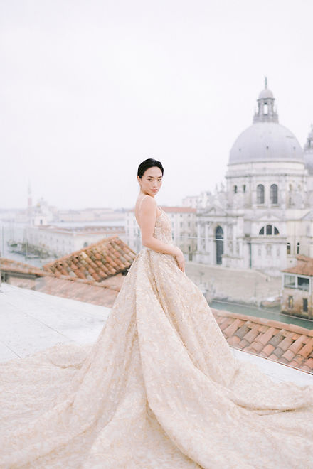 Lake Como makeup artist and hair for asian bride