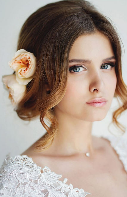 bridal makeup and hair in santorini greece