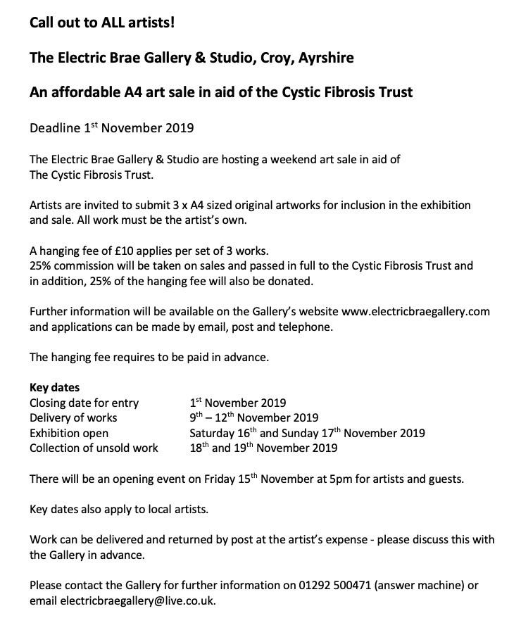 fund raising show for cystic fibrosis trust