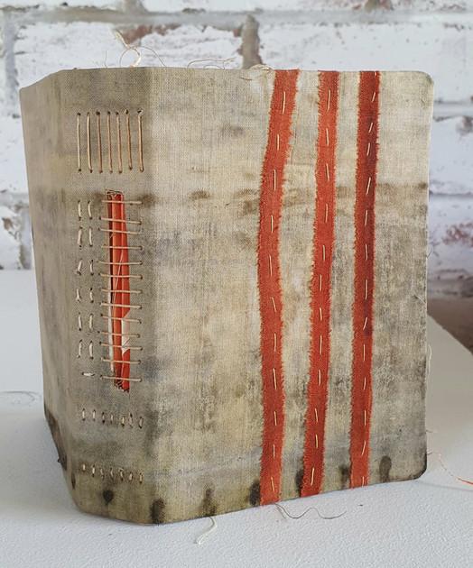 Orange striped journal by Book Art Studios