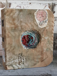 Calico covered tunnel book by Book Art Studios