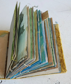 Delicious dyed paper By Book Art Studios.