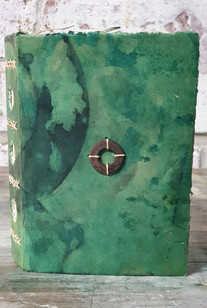 Green covered journal by Book Art Studios