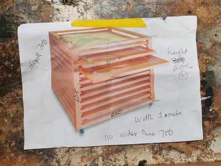 Custom made drying rack made - by me!