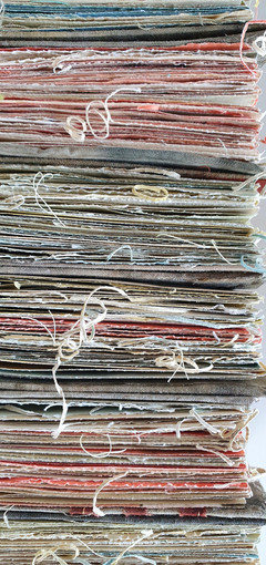 Dyed pages by Book Art Studios