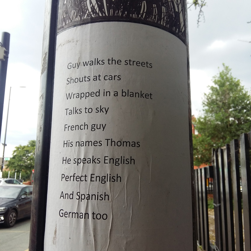 Lampost poetry