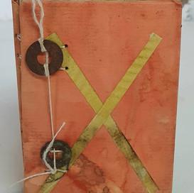 Orange cross by book art studios