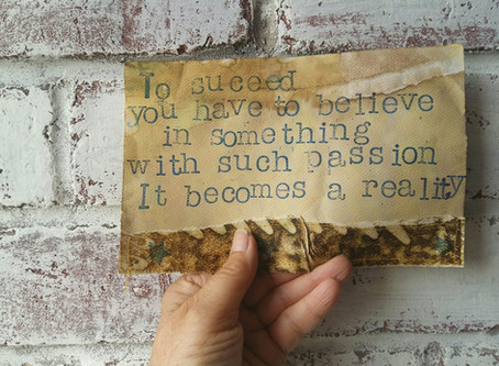 Two handmade quotes up for grabs