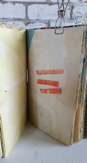 Window inside the journal by Book Art Studios