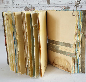Pages inside the journal by Book Art Studios