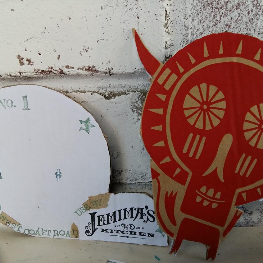 Jemima's kitchen2 by Book Art Studios