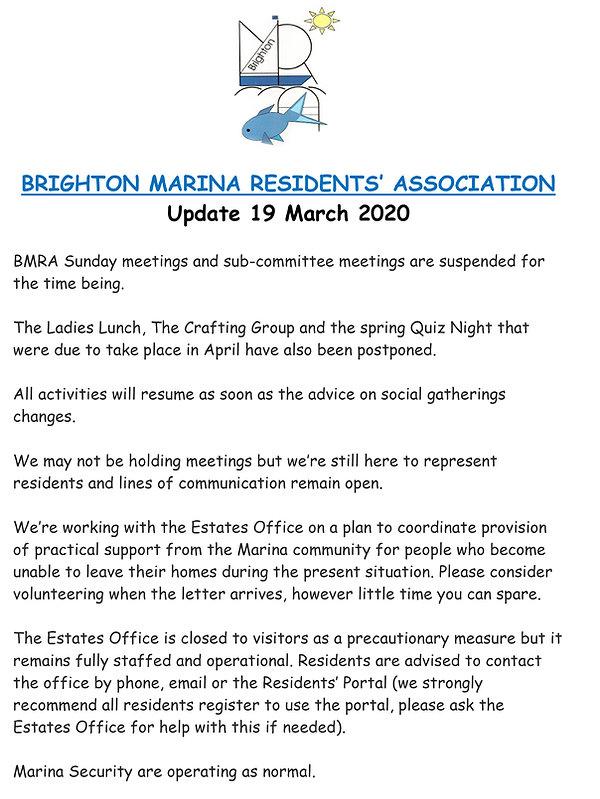 BRIGHTON MARINA RESIDENTS statement marc