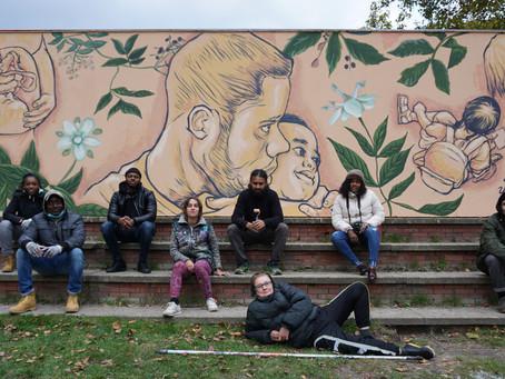 La Vida - new street artwork by Alaniz (AR)