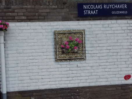 "Street Art - ""Odd to Tulips"" by E.Lee"