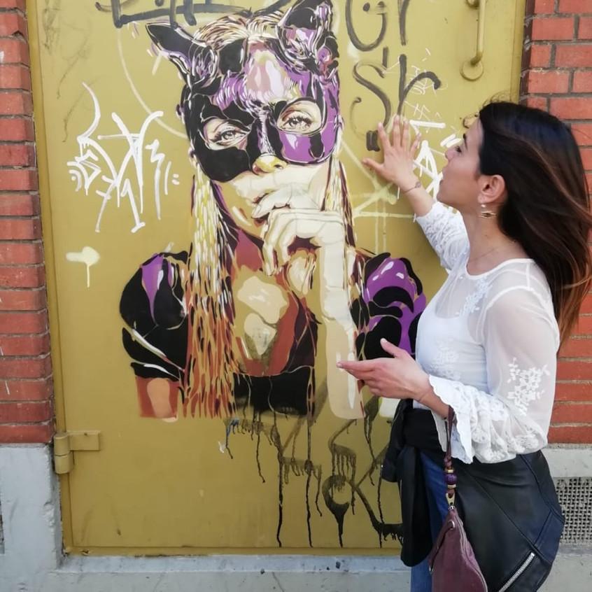 Btoy 2016 Catwoman Stencil art strete ar