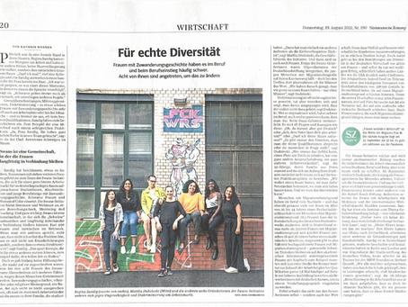 """SWANS in der Süddeutschen Zeitung! """"Für echte Diversität"""""""