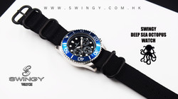 Deep Sea Octopus Nylon Wrist Watch
