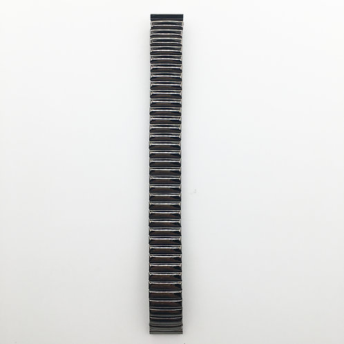 16mm Gun colour Stainless steel spring strap