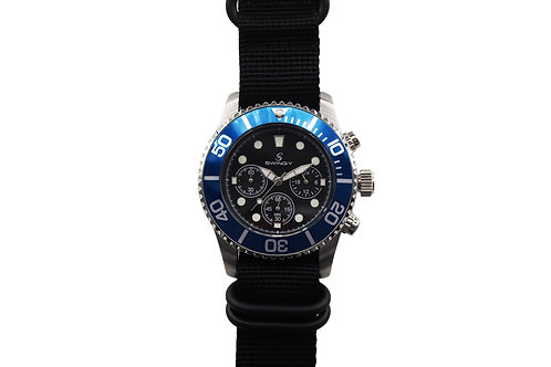 Deep Sea Octopus Wrist Watch Black Nylon Strap Version