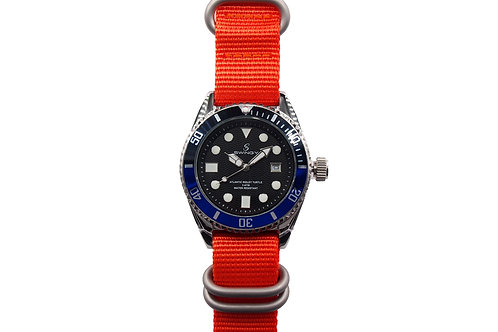 Atlantic Ridley Turtle Wrist watch Orange Nylon Strap Version